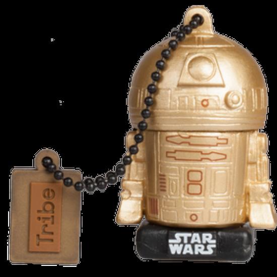 16GB Star Wars TLJ  R2-D2 Gold USB Flash Drive Image