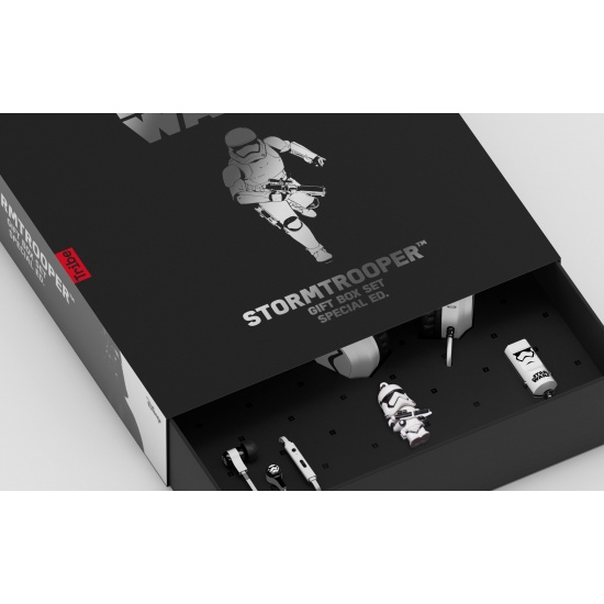 Star Wars StormTrooper Gift Set - Headphones, Earphones, 16GB USB Flash Drive, Cable & Car Charger Image