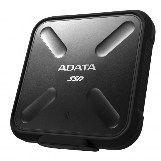 512GB AData SD700 Durable External SSD - USB3.1 Interface - Black Image