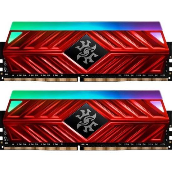 16GB AData Spectrix D41 RGB DDR4 3200MHz PC4-25600 CL16-20-20 Dual Channel Kit (2x 8GB) - Red Image