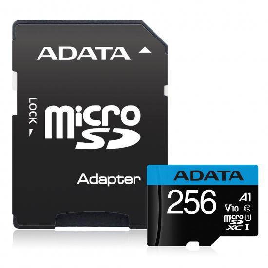 256GB AData Premier microSDXC A1 UHS-1 CL10 Memory Card w/SD adapter 85MB/sec Image