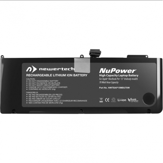 NewerTech NuPower 77.5 Watt-Hour Lithium-Ion Battery for MacBook Pro 15-inch 2011 - Mid 2012 Image