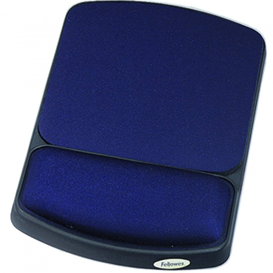 Fellowes Gel Wrist Rest & Mouse Pad Microban - Sapphire Image