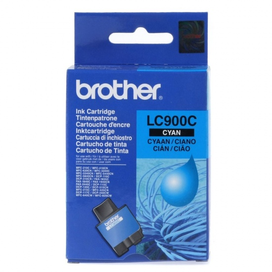 Brother LC900C Cyan Ink Cartridge Image