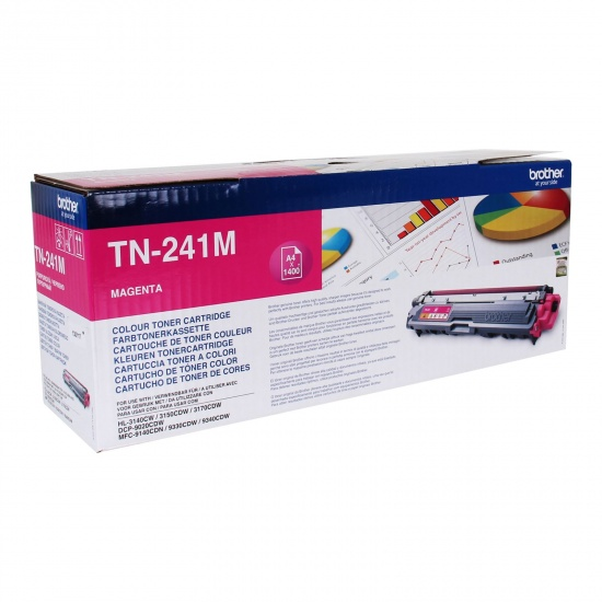 Brother Laser Toner Cartridge - TN241M - Magenta - 1400 Page Yield Image