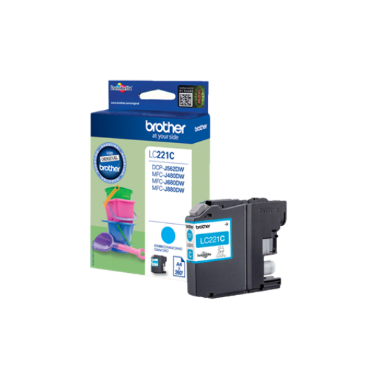 Brother LC-221C Cyan ink cartridge Image