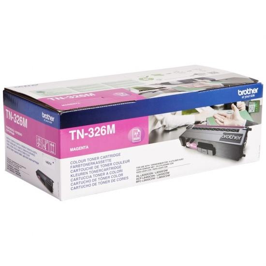 Brother Laser Toner Cartridge - TN326M - Magenta - 3500 Page Yield Image