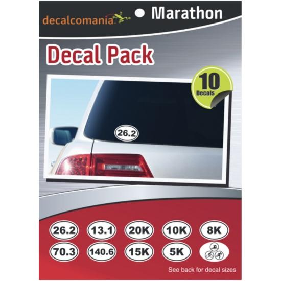 Marathon Euro Oval Stickers - Value Kit (10 Stickers) Image