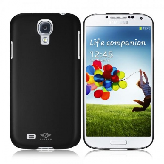iShell Black Classic Snap-On Case + Screen Protector for Samsung Galaxy S4 Image
