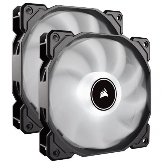 Corsair AF140 Air Series LED 140mm Computer Case Fans - Dual Pack - White Image