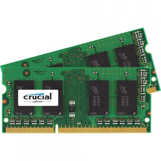 8GB Crucial DDR3 PC3-12800 1600MHz SO-DIMM CL11 Dual Memory Kit (2x4GB) Image