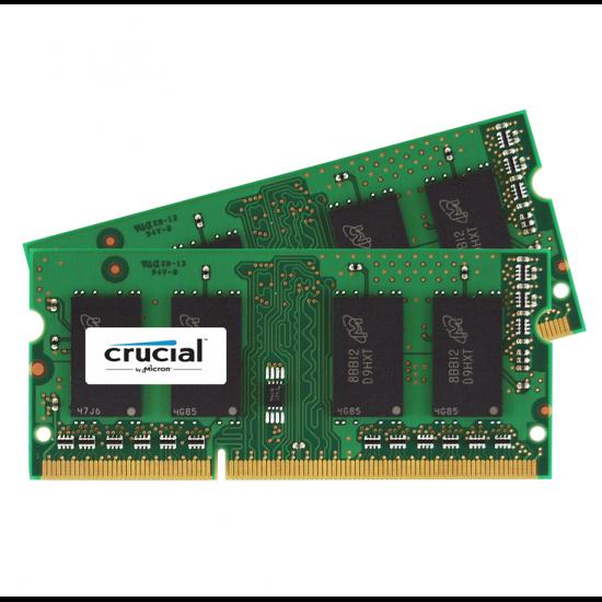4GB Crucial DDR3 SO DIMM 1600MHz PC3 12800 CL11 1.35V Dual Memory Kit (2 x 2GB) Image