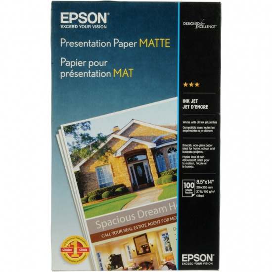 Epson 8.5x14 Matte Printing Paper - 100 Sheets Image