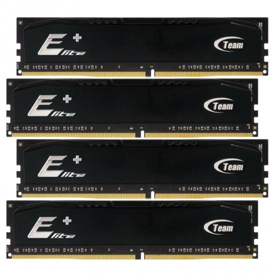 16GB Team Elite Plus DDR4 2400MHz (PC4-19200) Quad Channel kit 4x4GB modules Image