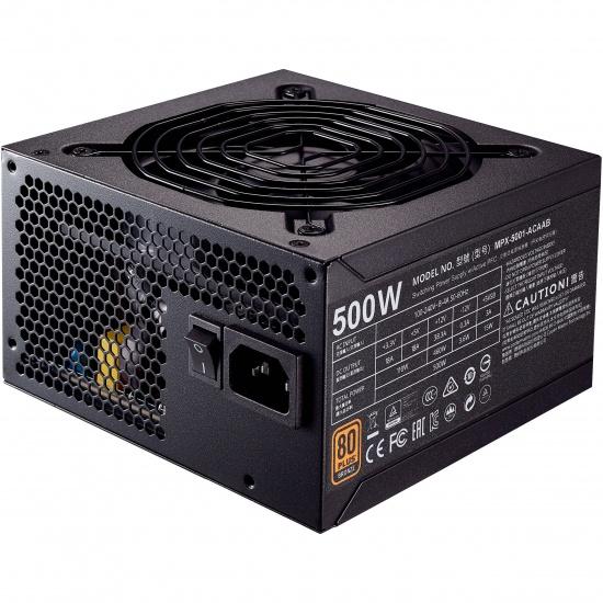 Cooler Master MWE Bronze 500 Watt 20+4 pin ATX Power Supply - Black Image
