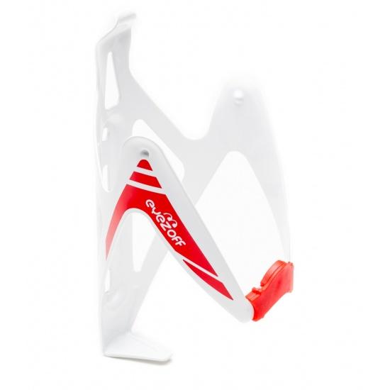 EyezOff Burst Ultra Lightweight Aluminum Bottle Cage  - White/Red Edition Image