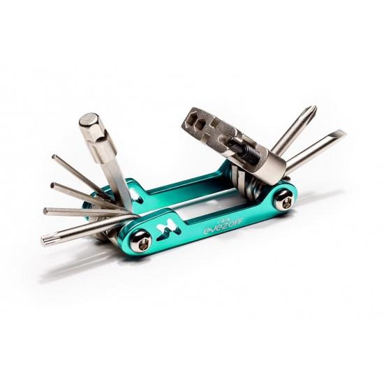 EyezOff Folding Bicycle Multi Tool With 18 Functions (Aquamarine/Silver) Image