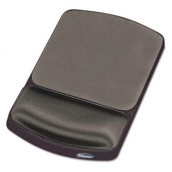 Fellowes Gel Mouse Pad w/Wrist Rest - Platinum Image