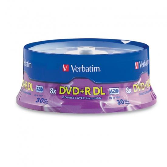 Verbatim DVD+R DL 8.5GB 8X Branded 30-Pack Spindle Image