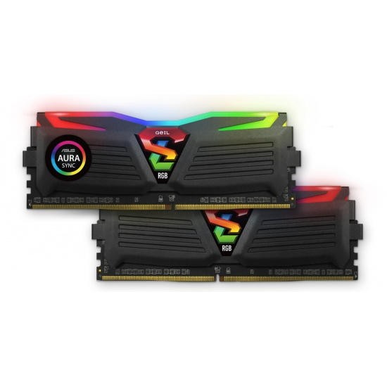 16GB GeIL Super Luce RGB SYNC DDR4 3200MHz PC4-25600 CL16 Dual Channel Kit (2x 8GB) Black Image