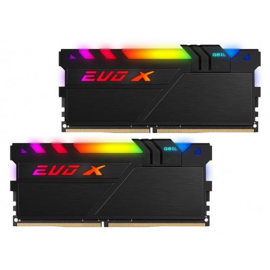 16GB GeIL EVO X II RGB DDR4 3600MHz PC4-28800 CL18 Dual Channel Kit (2x 8GB) Black Image