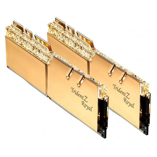 32GB G.Skill DDR4 Trident Z Royal Gold 4000Mhz PC4-32000 CL16 1.40V Dual Channel Kit (2x16GB) Image