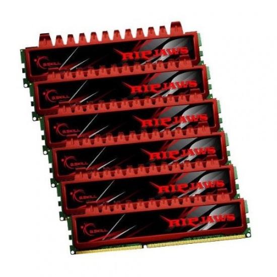 24GB G.Skill DDR3 PC3-10666 1333MHz Ripjaw Series (9-9-9-24) Triple2 Channel kit 6x4GB Image