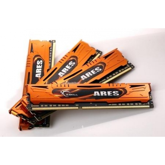 16GB G.Skill DDR3 PC3-12800 1600MHz Ares Series Low Profile (9-9-9) Quad Channel kit Image