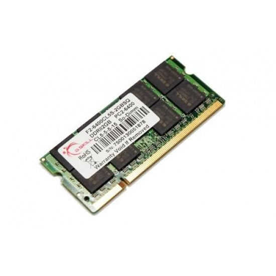 2GB G.Skill DDR2 SO-DIMM PC2-6400 (800MHz) laptop memory module Image