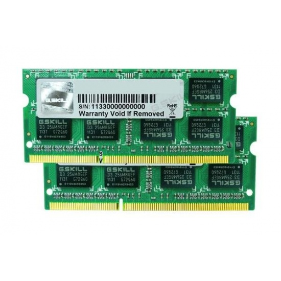 8GB G.Skill DDR3 PC3-12800 CL11 SQ Series laptop memory dual channel kit Image