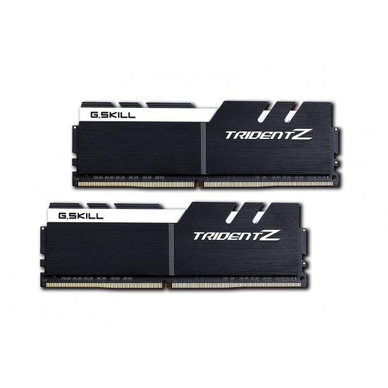 32GB G.Skill DDR4 Trident Z 3600Mhz PC4-28800 CL17 White/Black 1.35V Dual Channel Kit (2x16GB) Image