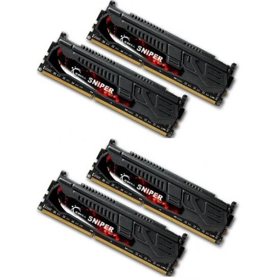 16GB G.Skill DDR3 PC3-17000 2133MHz Sniper Series (9-11-10-28) Quad Channel kit 4x4GB Image