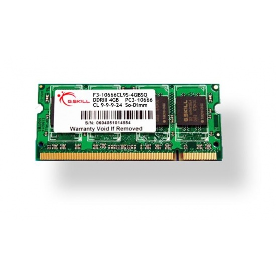 2GB G.Skill DDR3 PC3-12800 CL9 SQ Series single laptop memory module Image