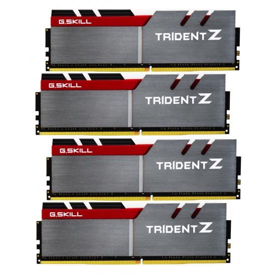 32GB G.Skill DDR4 Trident Z 3200Mhz PC4-25600 CL16 (16-18-18-38) 1.35V Quad Channel Kit (4x8GB) Image