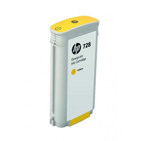 HP 728 Ink Cartridge 130ml Yellow Image