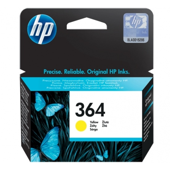 HP 364 Yellow Original Ink Cartridge Image