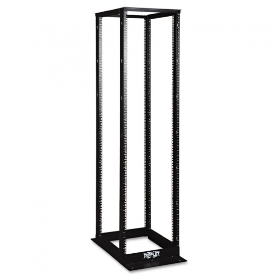 Tripp Lite 45U SmartRack 4 Post Open Frame Rack Cabinet - Black Image
