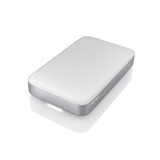 2TB Buffalo MiniStation Thunderbolt and USB3.0 Portable Hard Drive - Silver/White Image