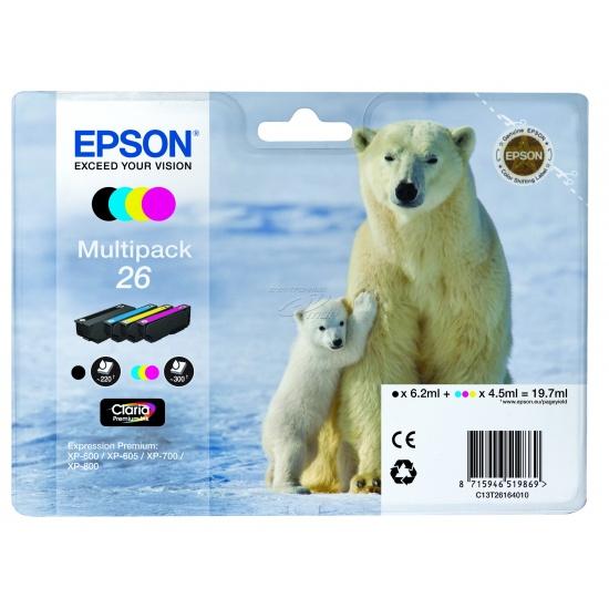 Epson 26 Multi-pack Ink Cartridge (Black, Yellow, Cyan, Magenta) Image