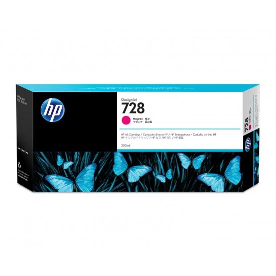 HP 728 Ink Cartridge 300ml Magenta Image