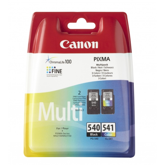 Canon PG-540 CL541 Multi-pack Ink Cartridge (Black, Cyan, Magenta, Yellow) Image