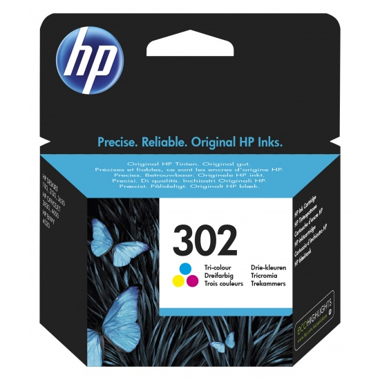 HP 302 Multi-pack Ink Cartridge (Yellow, Cyan, Magenta) Image