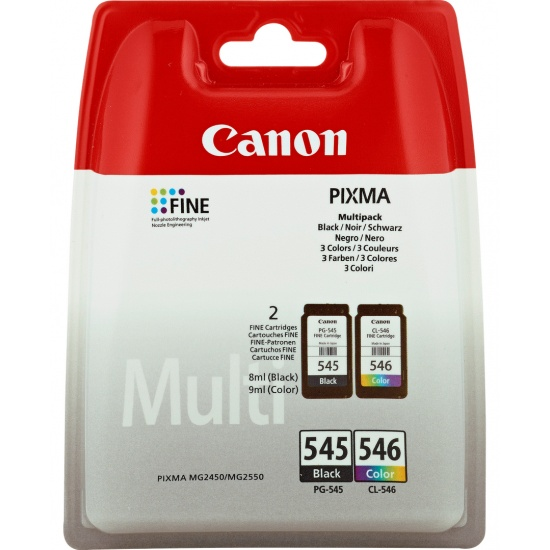 Canon PG-545/CL-546 Multi-pack (Black,Cyan,Magenta,Yellow) Image