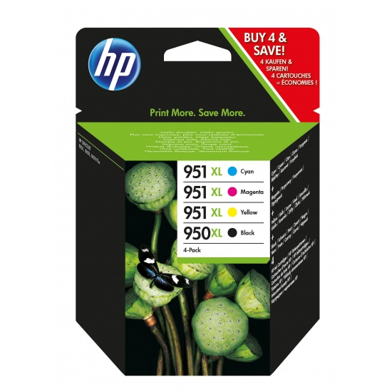 HP 950XL Multi-pack Ink Cartridge (Black ,Cyan, Magenta, Yellow) Image