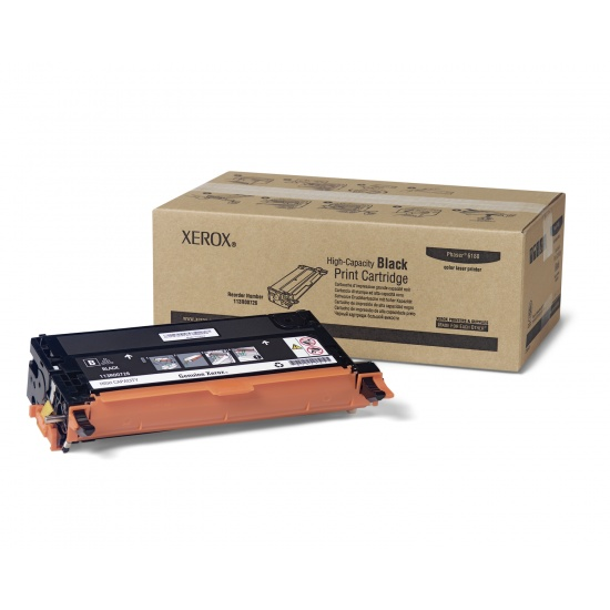 Xerox Black High Capacity Print Cartridge, Phaser 6180 Series, 8000 Pages Image