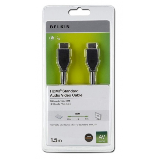 Belkin High Speed HDMI Male to HDMI Male Cable 1.5m (5ft) Black Image