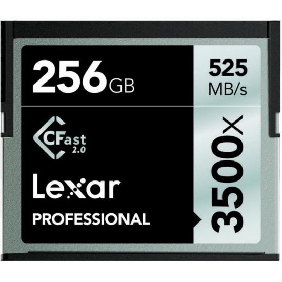 256GB Lexar CFast 2.0 Memory Card 3500X Speed Image