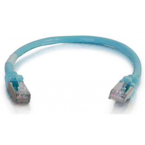 C2G 20ft Cat6a Snagless Shielded (STP) Network Patch Cable Aqua Image