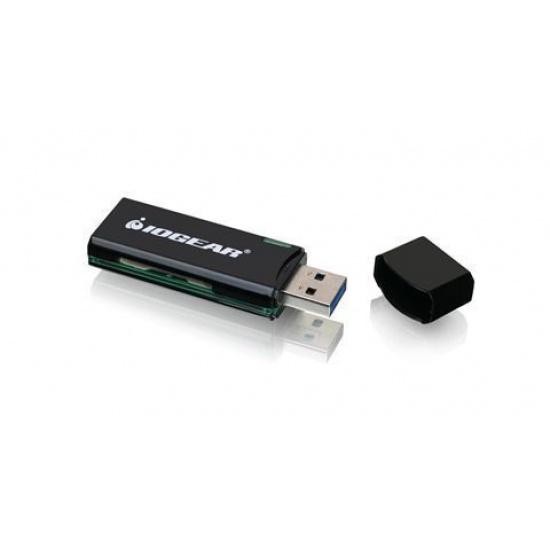 IOGEAR GFR304SD USB3.0 Black Card Reader for SD/microSD Cards Image