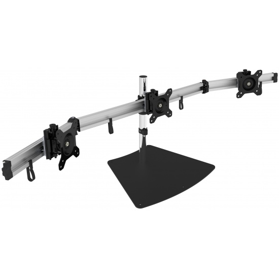 SIIG CE-MT2211-S1 Triple Flat Screen Monitor Desk Stand - Up to 27-inch Image